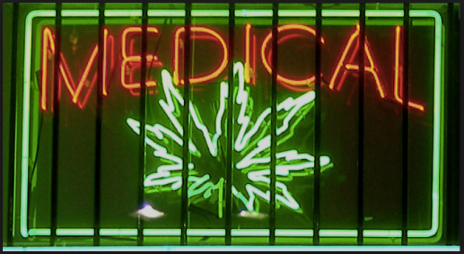 Image from Wikipedia: Neon sign from a medical marijuana dispensary on Ventura Boulevard in Los Angeles, California.