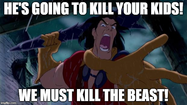 Who exactly is the beast in this scenario Gaston?