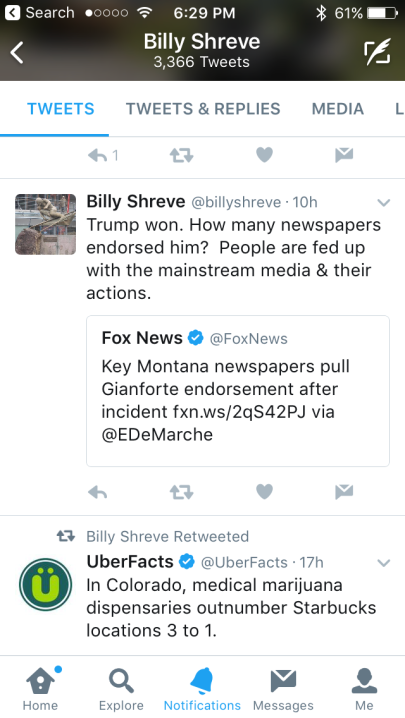 Does Billy condone violence against reporters? Let his