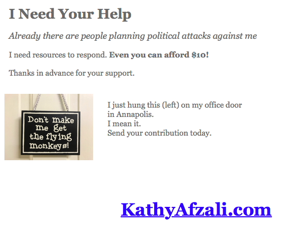 Kathy Afzali wants help